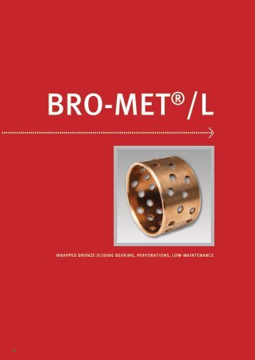 wrapped bronze sliding bearing, perforations, low-maintenance