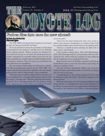 Forbes flies into race for new aircraft - 190th Air Refueling Wing ...