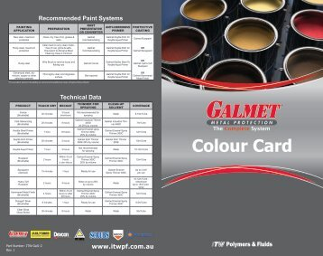 Colour Card - ITW Polymers and Fluids