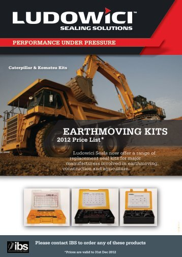 Komatsu Excavators Seal Kits - Industrial and Bearing Supplies