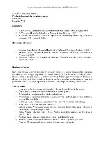 Industrijska Hemijska Analiza.pdf