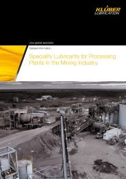 Speciality Lubricants for Processing Plants in the Mining Industry