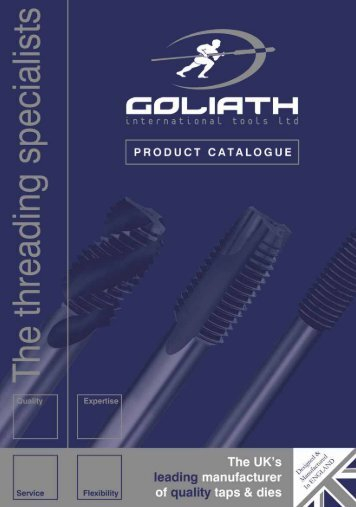download Product Catalogue PDF (2.4MB) - Goliath Threading Tools