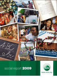social report 2009 - AVSI-USA