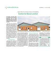 Pressebericht Bauernblatt - Komfort für Mensch und Kuh - DeLaval