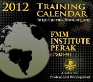 Training Calendar FMM Institute Perak January-December 2012 12