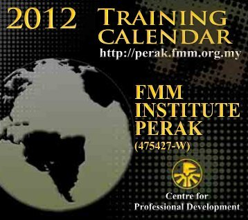 Training Calendar FMM Institute Perak January-December 2012 12