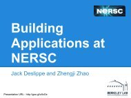 NERSC Applications at Building