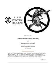 RUFFE CONTROL PROGRAM - Aquatic Nuisance Species Task Force