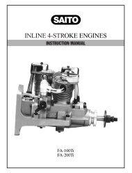 YS FZ115S 4-STROKE GLOW ENGINE - Central Hobbies