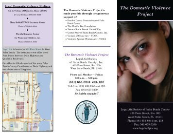 The Domestic Violence Project - Legal Aid Society