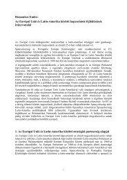 Az Európai Unió és Latin-Amerika közötti kapcsolatok ... - Grotius