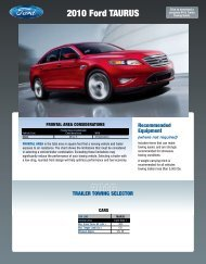 Ford 2010 Taurus Towing Guide
