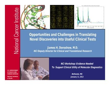 Opportunities and Challenges in Translating ... - NCI at Frederick