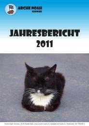 Jahresbericht 2011 (PDF) herunterladen - Arche  Noah Schweiz