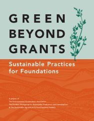Volume I: A toolkit for Greening Foundation Operations - safsf