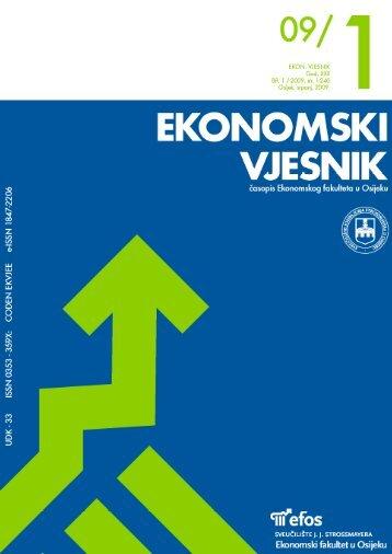 novi identitet slavonije i baranje - Ekonomski fakultet u Osijeku