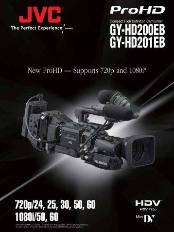 GY-HD200EB GY-HD201EB - JVC