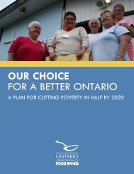 Our Choice for a Better Ontario: A Plan to Cut Poverty in Half by 2020