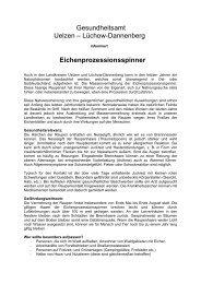 Merkblatt des Gesundheitsamtes - Samtgemeinde Rosche