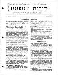 12:4 Summer 1991 - Jewish Genealogical Society