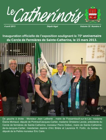 Avril 2013 - Ville de Sainte-Catherine-de-la-Jacques-Cartier