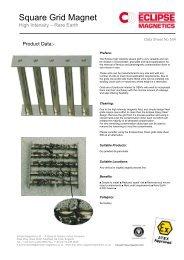 Square Grid Magnet datasheet (pdf) - Eclipse Magnetics