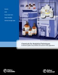 Chemicals for Analytical Techniques - Fisher Scientific