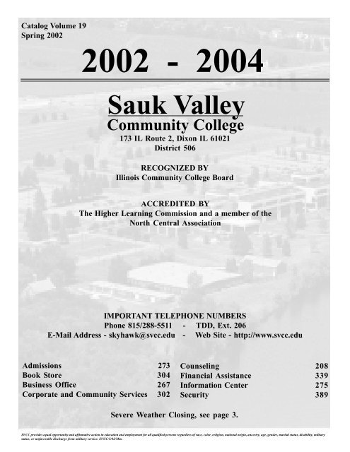 Student Services - Sauk Valley Community College on
