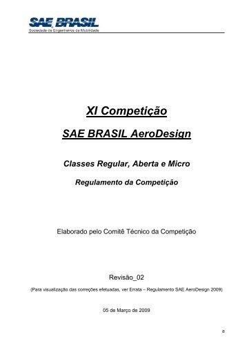 Regulamento 2009 - UFSC Aerodesign