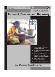 Tsunami, Gender, and Recovery Tsunami, Gender, and Recovery