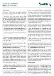 Obchodní podmínky úvěrové smlouvy (5240 KB)
