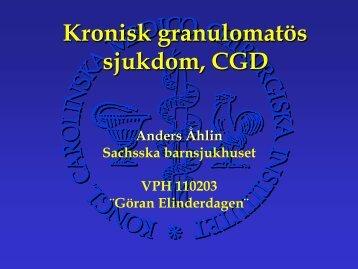 Kronisk granulomatös sjukdom, CGD - BLF