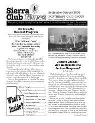 What's Inside? - Sierra Club – Ohio Chapter