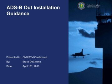 ADS-B Out Installation Guidance