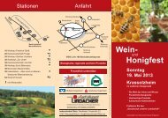 Info-Flyer zum Download - Imkerverein Oberer Ehegrund