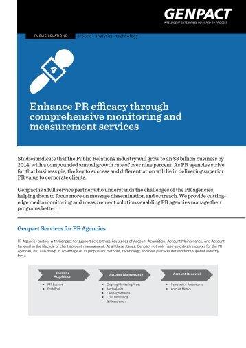 Enhance PR efficacy through comprehensive monitoring ... - Genpact