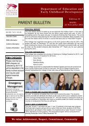 Bulletin 11 - November 22nd - Drouin Secondary College