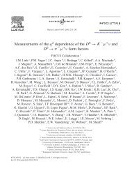 Measurements of the q dependence of the D 0 → K µ ν and D ... - Infn