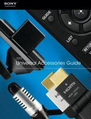 2012 Universal Accessories Guide - Creative Channel Services