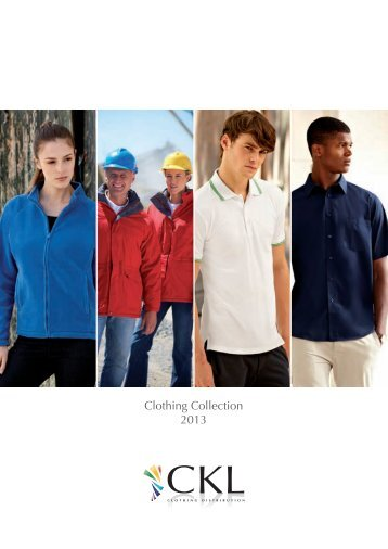 Download the latest CKL Sports wear brochure (0.7Mb PDF)