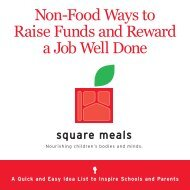 Non-Food Ways to Raise Funds and Reward a Job ... - Square Meals