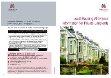 Local Housing Allowance - UK Benefits Guide