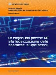 La pubblicazione in PDF - Dipartimento per le politiche antidroga