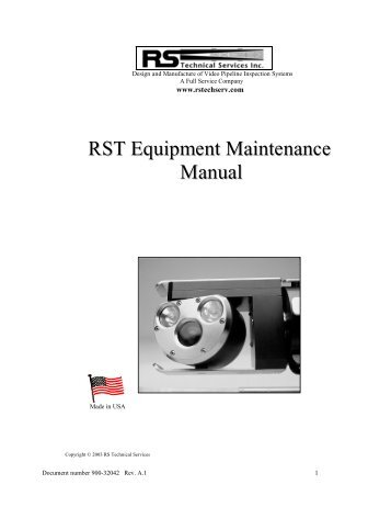 General Equipment Maintenance Manual - Indian River Equipment