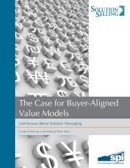 The Case for Buyer-Aligned Value Models - TrainingIndustry.com