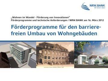 Förderprogramme Für Den Barriere - Wohnen im Wandel