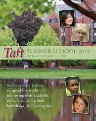 Summer School 2010 - The Taft School