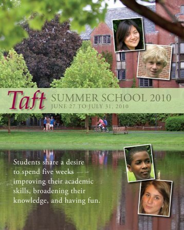Summer School 2010 - The Taft School