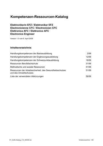 ET_KoRe-Katalog_V10_090406 - Swissmem Berufsbildung